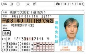 ウーバーイーツ(Uber Eats)登録に必要な運転免許証の画像