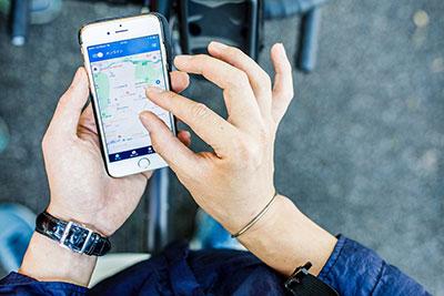 ウーバーイーツ福岡はバイトより稼げるか、アプリを起動した画像