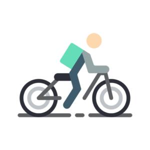 ウーバーイーツ自転車の平均走行距離