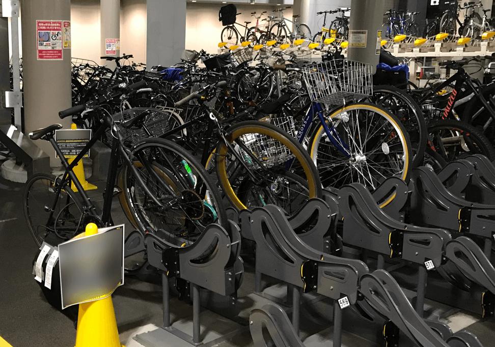 ウーバーイーツ副業平日に使う自転車の画像