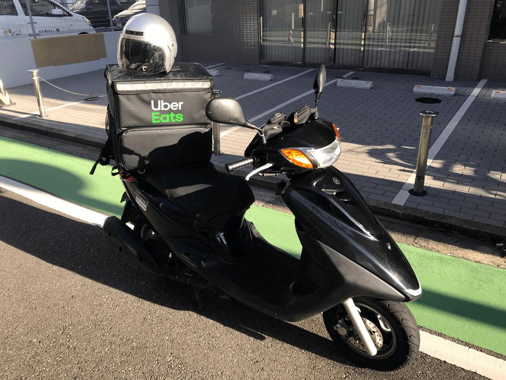 ウーバーイーツ福岡はバイトより稼げるか、レンタルバイクで稼動中の画像