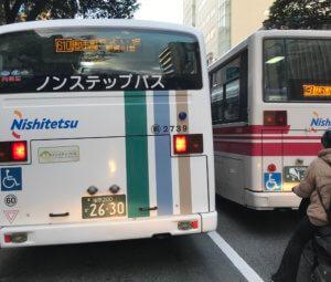 ウーバーイーツ福岡はバイトより稼げるか、福岡エリアで見つけた西鉄バスの画像