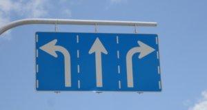 ウーバーイーツ福岡はバイトより稼げるか、福岡エリアで見つけた2段階右折標識の画像