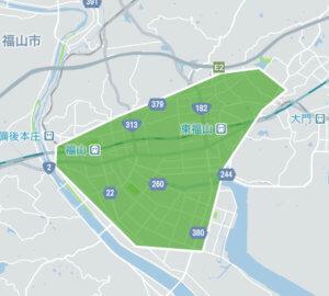 Uber Eats (ウーバーイーツ)広島県福山市エリアの画像