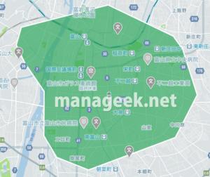 Uber Eats (ウーバーイーツ)富山エリアの画像