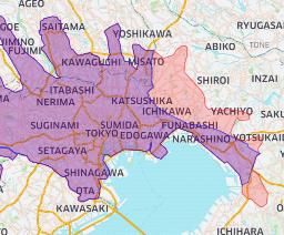 2020年7月15日(水)より新しく松戸市、鎌ヶ谷市、柏市、八千代市、四街道市へ拡大します