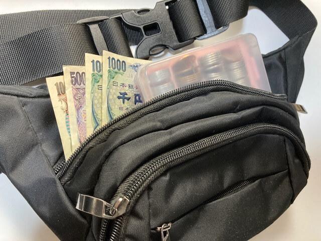 必要なもの・持ち物⑥ 現金を扱う方はポーチとケースが便利