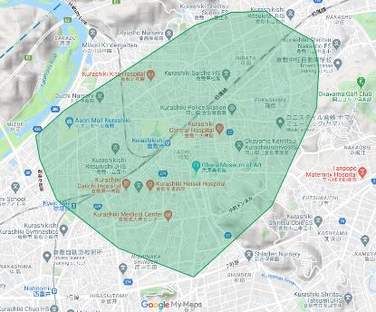 2020年10月20日(火)より新しく倉敷市へ拡大しました