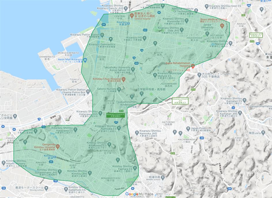 2020年11月5日(木)より新しく我孫子市, 市原市, 木更津市, 君津市, 佐倉市, 富里市, 流山市, 成田市, 野田市へ拡大しました