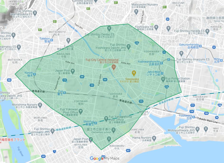 2020年11月17日(火)より新しく富士市へ拡大しました